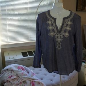 J crew embroidered tunic M